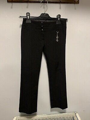 F&F Black Girls School Trousers Age Size 6-7 Years Perfect Condition