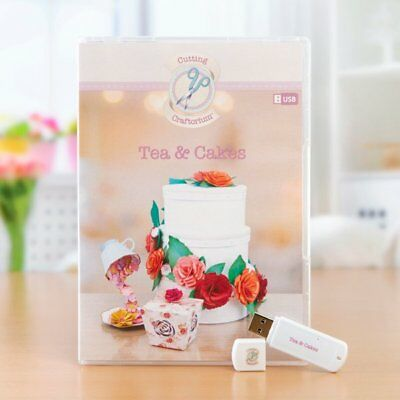 Cutting Craftorium Tea and Cakes USB including 200 backing papers