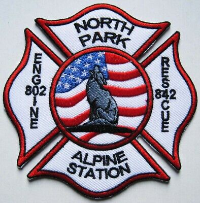 PATCH ECUSSON USA POMPIERS ALPINE STATION COUNTRY WESTERN - Ref.25