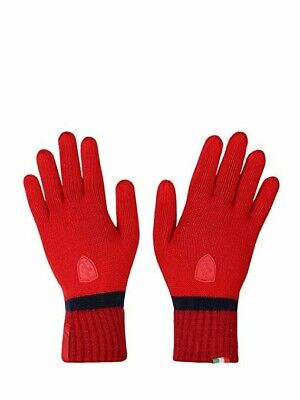 Xmas Sale ! Ferrari Puma Red Knitted Gloves M/L Rrp£30 Free P&P