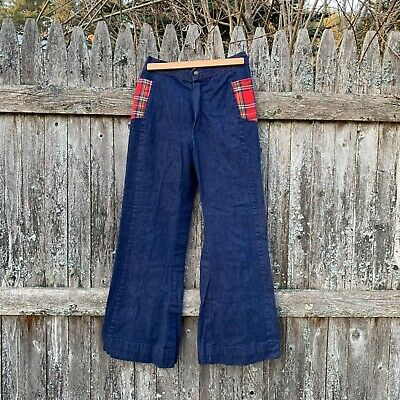 vintage 70's high rise bell bottom jeans