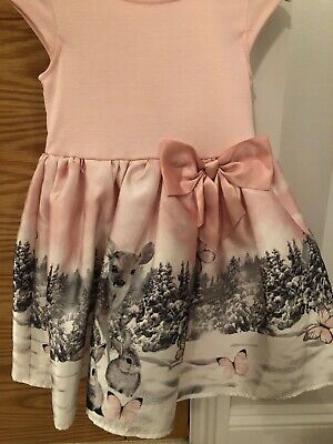 Girls Christmas Dress Aged 4-6 Years With Christmas Theme H&M