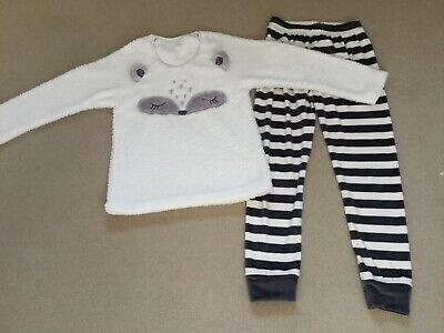 BNWOT Next Girls Fluffy Winter/Christmas Pyjamas/ Pjs, Age 11, Great Condition