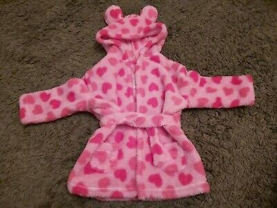 Baby Girls Cosy Dressing Gown Aged 18/24 months