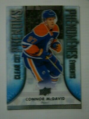 Damaged 2016-17 CONNOR McDAVID TIM HORTONS CLEAR CUT PHENOMS - ROOKIE