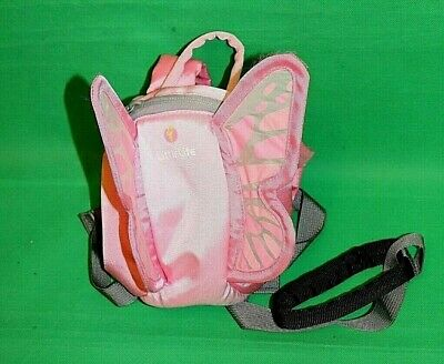 LittleLife Pink Butterfly Themed Back Pack & Safety Harness  (B)