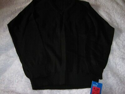 Marks And Spencer Boys Girls Black School Jumper Aged 9 - 10 Year New With Tag
