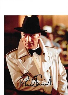 Star Trek Autograph Hand Signed Patrick Stewart As Picard (Dixon Hill)