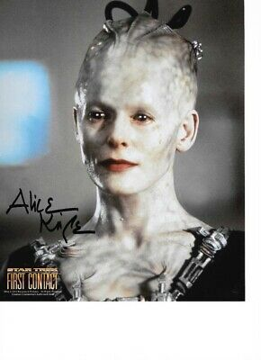 Star Trek Autograph Hand Signed Alice Krige As The Borg Queen