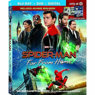 Spider-man: Far From Home New Blu-ray & Dvd 2019, 2 Discs No Digital Tom Holland