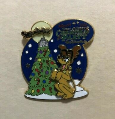 Disney Pin WDW Mickey's Very Merry Christmas Party 2006 Pluto Slider LE2000 Glow