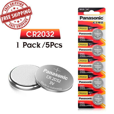 5pcs Panasonic cr 2032 Button 3V Cell Batteries For Watch Remote Control cr2032