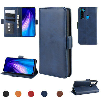 For Xiaomi Redmi Note 8T PU Leather Stand Flip Card Holder Wallet Case Cover
