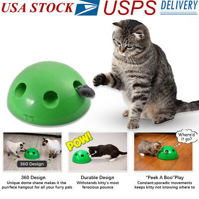"""2019 New Pop N""""Play Interactive Motion Cat Toy Mouse Tease Electronic Pet Toys"""