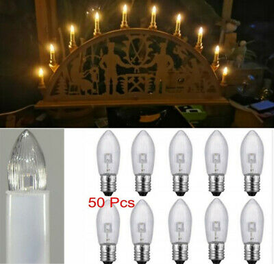 1-50X E10 LED replacement bulbs top candle for fairy lights lamp 10V-55V AC de