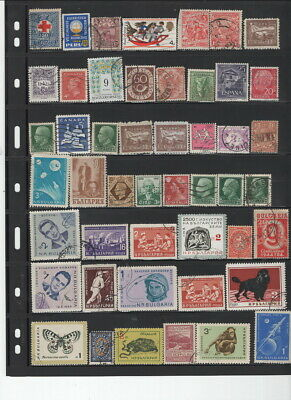 100's OF STAMPS ON 20 STOCK PAGE SIDES!