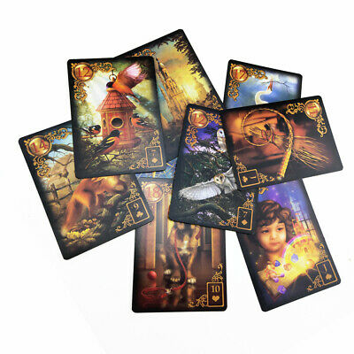 47Pcs/ Set Read Fate Lenormand Oracle Cards Mysterious Fortune Tarot Cards Kit