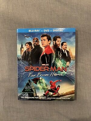 Spider-Man: Far From Home (Blu-ray+DVD+Digital, w/Slipcover, 2019) New Sealed