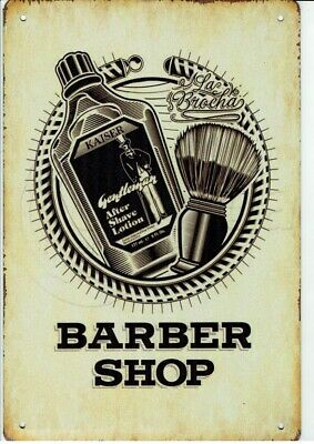Barber Shop Friseur Retro Design Schild 3