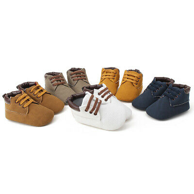 Infant Baby Toddler Leather Shoes Anti-slip Newborn Boy Girl Soft Sole Shoes