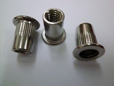 Sleeve Nut Flathead Stainless Steel A2 Rivet Nuts Rivets M3 - M13 Milled