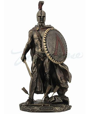 Leonidas King Of Sparta with Sword & Shield Statue Greek *PERFECT HOLIDAY GIFT