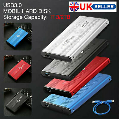 USB 3.0 500GB 1TB External Hard Drive Disks HDD 2.5'' Fit For PC Laptop Portable
