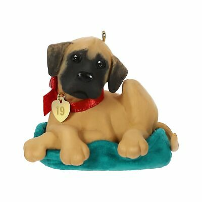 Hallmark Keepsake Christmas Ornament 2019 Year Dated Dog Dane Puppy Love