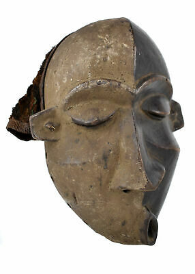 Pende Deformity Mask with Hood and Hair Custom Stand Congo