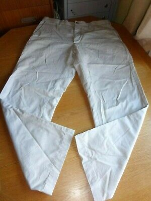 Blue Harbour M And S Chinos Size 34''X29'' Natural Off White Brushed Feel Vgc