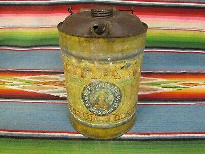 Original Vintage Metal Mohawk Oil Company Oil Or Kerosene Can In Used Condition
