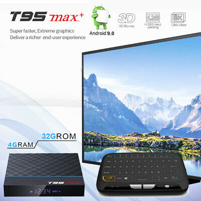 T95 MAX+ S905-X3 8K HDR 4GB DDR3 Android 9.0 Dual WiFi Bluetooth Smart TV Box