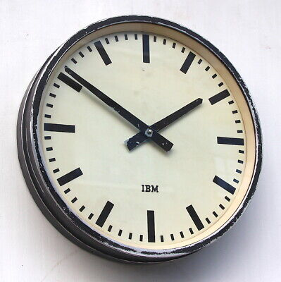 WEST GERMAN1970s Midcentury Vintage Retro Industrial Factory Office Wall Clock