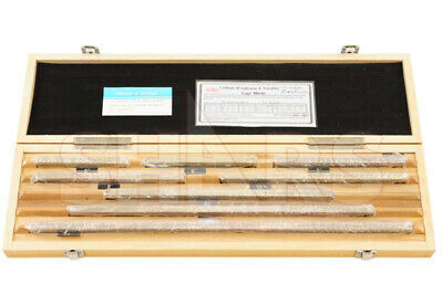 """8Pc AS-1 Grade Long Large Steel Gage Block Set 5 to 20"""" W/ NIST CERTIFICATE NEW"""