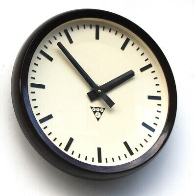 CZECH 1970s Eastern Bloc Midcentury Vintage Retro Industrial Factory Wall Clock