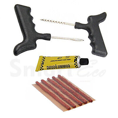 Tubeless Tyre Puncture Repair Kit Car Van Truck Motorcycle Tire Emergency Tool