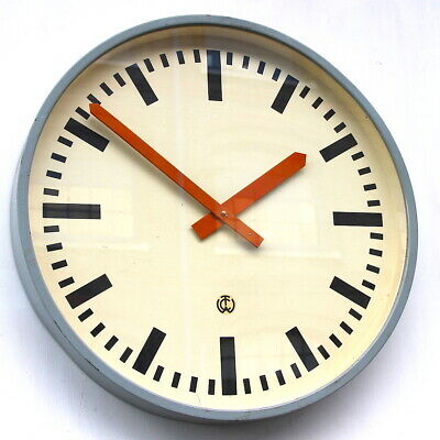 MASSIVE 56cm 1970s  West German Vintage Retro Industrial Factory Wall Clock