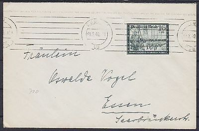 Dr mi No. 710 Ef on Letter with Mas Machine Cancel Eat 07.02.1940, German Empire