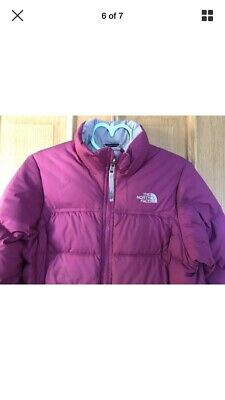 Girls 'North Face' Down-filled Warm Puffa Jacket/Coat 10-12 Years