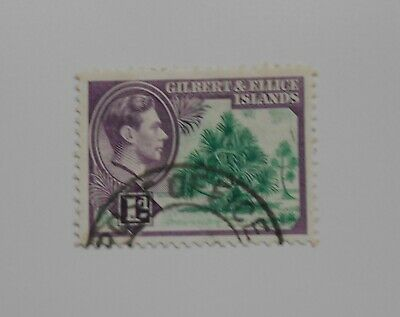Gilbert & Ellice Islands, 1d KGV1 used stamp