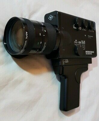 Agfa Movexoom 10 Super 8 Camera, case, instructions, in Excellent Condition