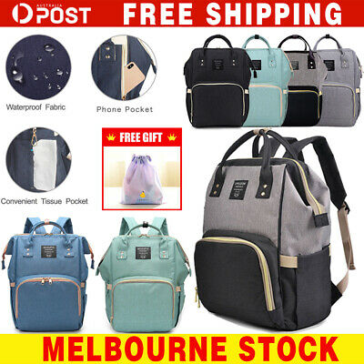 GENUINE LAND Multifunctional Waterproof Large Mummy Nappy Diaper Bag Backpack