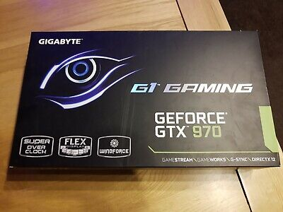 Nvidia GIGABYTE G1 Gaming GeForce GTX 970 4096MB 4GB Graphics Card boxed