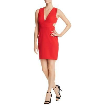 Aidan by Aidan Mattox Womens Red Party Scuba Cocktail Dress 12 BHFO 3011
