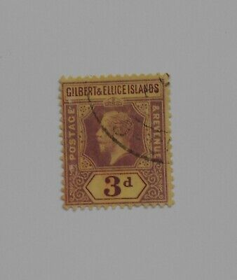 1919 GILBERT & ELLICE ISLANDS KGV 3d fine used