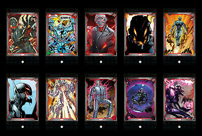 Topps Marvel Collect! Ultron Showcase complete 10-card set (digital cards)