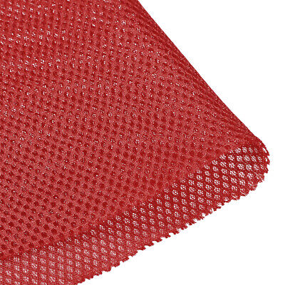 Speaker Grill Cloth 1x1.45M Polyester Fiber Stereo Mesh Fabric Wine Red