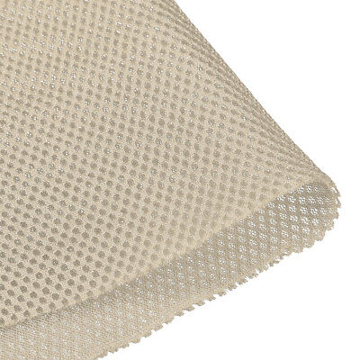 Speaker Grill Cloth 0.5x1.45M Polyester Fiber Stereo Mesh Fabric Beige