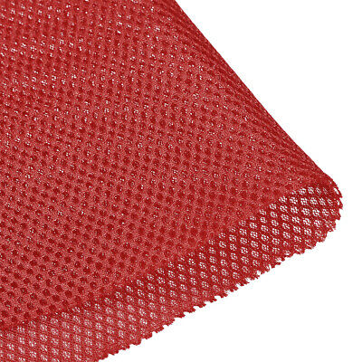 Speaker Grill Cloth 0.5x1.45M Polyester Fiber Stereo Mesh Fabric Wine Red