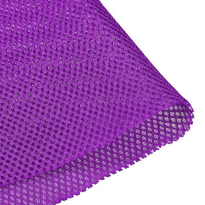 Speaker Grill Cloth 1x1.45M Polyester Fiber Stereo Mesh Fabric Purple